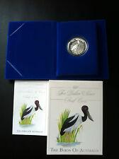 1991 $10 BIRDS OF AUSTRALIA JABIRU SILVER PROOF COIN