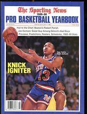 The Sporting News Magazine 1989-90 Pro Basketball Yearbook EX 012817jhe
