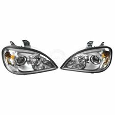 Headlight Headlamp Chrome Projector Pair Set for 96-13 Freightliner Columbia