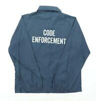 """VTG 70s Code Enforcement Adult Medium 45"""" Auburn Sportswear Snap Coaches Jacket"""