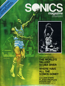 1980-81 NBA GOLDEN STATE WARRIORS vs. SEATTLE SUPERSONICS GAME PROGRAM NM/MT