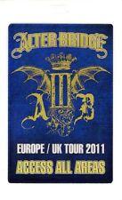 Alter Bridge 2011 AB III Europe/UK Tour Laminate Backstage Pass Unused