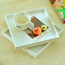 Modern Wood Tray Food Serving Makeup Storage Fruit Plate Photo Props White
