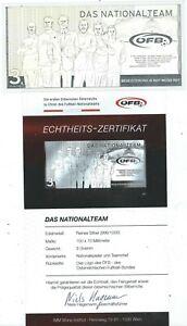 Silbernote ÖFB - Das Nationalteam, 2016, Echtheitszertifikat
