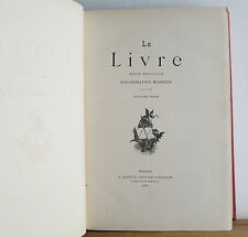 Le Livre Revue Mensuelle Bibliographie Moderne 1881 French Mag re: Books 12 Iss.
