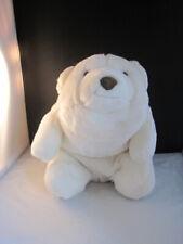 "Gund Platinum 12"" White Polar Bear with Brown Leather Nose"