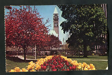 Posted 1979: Tulip Bed in Park & Clock Tower, Toronto
