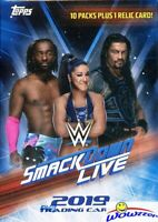 2019 Topps WWE SMACKDOWN LIVE! EXCLUSIVE Factory Sealed Blaster Box-RELIC Card!