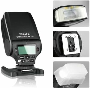 MeiKe MK-320 TTL LCD Hot Shoe Flash Speedlight F/ Canon Sony Nikon Fuji Olympus