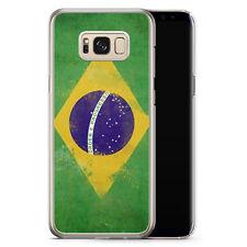 Samsung Galaxy S8 Plus - Hard Case Hülle - Brasilien Grunge Brasil Brazil Motiv