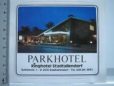 Aufkleber Sticker Stadtallendorf - Parkhotel (5464)