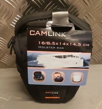 Camlink Black Holster Bag for SLR Camera Rain Cover Pouch Carrier Carrying Strap
