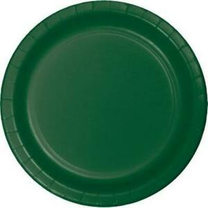 """Hunter Green 10"""" Paper Plates 24 Per Pack Tableware Party Decorations Supplies"""