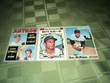 1970 Topps Baseball Uncut Card Sheet of 3