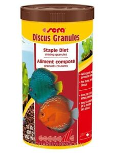 Sera Discus Granules 480g Staple Diet Sinking granules - Discus Fish Food 1000ml