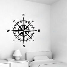 Compass Vinyl Decal Sticker Boat Window Wall Nautical Sailing Anchor Ship Cute