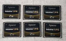 x6 (Pcs) Apacer 2Gb Industrial Cf6 Compact Flash Cf Memory Card.