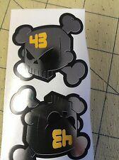 2 Ken Block 50 X 50 Mm Cromo Impreso Calavera pegatinas Monster Rockstar pegatinas