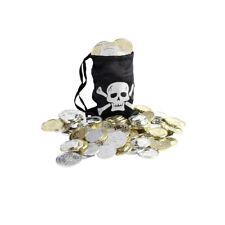 Pirate Sac Pirates Porte-Monnaie avec Pièces Tête de Mort Schatzbeutel Sac