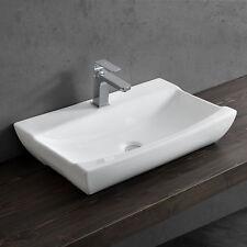 [neu.haus] Lavabo sobre encimera 63x40cm blanco cerámica elegante