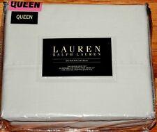 Queen Ralph Lauren Dunham Silver Gray Cotton Sateen 4-piece Sheet Set 300Tc New