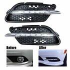 2x LED Daytime DRL Fog Running Lights For 2008-2011 Mercedes C300 W204 AMG Sport