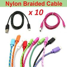 lot 10 10FT BRAIDED USB Cable Charging Cord For iPhone X 7 8 6 6s Plus 5S 5C SE