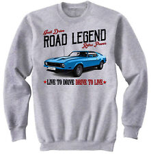 Ford Mustang Mach 1 - NEW COTTON GREY SWEATSHIRT ALL SIZES IN STOCK