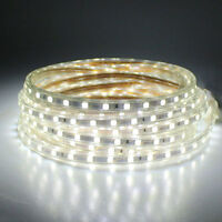 SMD3014 LUZ CINTA TIRA FLEXIBLE LED AC220V 60 LED/M IMPERMEABLE - BLANCO