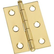 "25 Pk Solid Brass 1 3/8"" W X 2"" H Jewelry Box Chest Ball Tip Hinge 2/Pk N261768"
