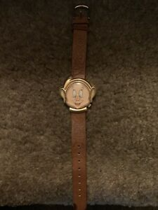 disney dopey watch Timex vintage leather strap emboissed leather mint condition