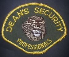 Vintage Deans Security Professionals Sew On Patch