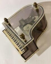 Vintage Clear Grand Piano Music Box 'You Lite Up My Life'