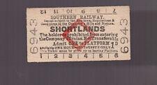 Southern Railway Platform Ticket - Shortlands - Dated 1950
