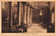 Cairo Egypt Church Interior View Antique Postcard J50427