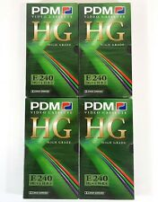 PDM E240 VHS Video Cassette Tapes HG 4 Houers Sealed Pal Secam A929