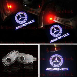FOR (2007-12) W221 S-CLASS MERCEDES-BENZ AMG LOGO DOOR PANEL LED PROJECTOR LIGHT