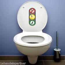 10 x WC BAD Badezimmer Benimm Regel Aufkleber AMPEL Wandtattoo Bitte hinsetzen