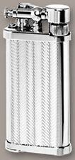 Old Boy IM Corona Butane Pipe Lighter 90 Degree Flame Silver Herringbone - 1205