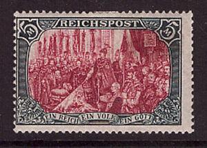 Deutsches Reich 66 II ungebraucht Type II REICHSPOST 5 Mk (22552)
