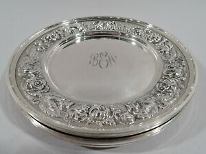 Stieff Plates - 525 - Set 4 Baltimore Bread Butter - American Sterling Silver