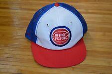 Vintage Twins Detroit Pistons Snapback Trucker Hat Cap Blue Bad Boys Era 80s 90s
