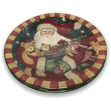 2 Replacement Father Christmas Santa Dessert / Salad Plate by Susan Winget CIC