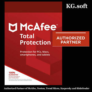 McAfee Total Protection 2021 for 1-device 1-year | Activation Code [Global]