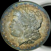 1879-S Morgan Silver Dollar NGC MS64 Prominent Color Toning & Year Toned