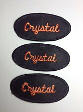 CRYSTAL EMBROIDERED SEW ON NAME PATCH LOT OF 3 ~ NAME TAG
