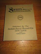 Vintage Original 1906 Sweet Building Construction Catalog Architectural Record