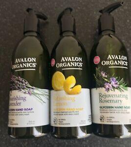 Avalon Organics Glycerin Hand Soap Refreshing Lemon Vegan Rosemary Lavender