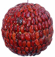 Seed Bean Mosaic Decorative Ball Ornament Natural Red Christmas Tree 453f