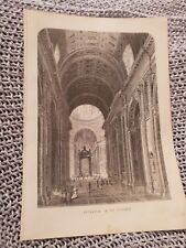 Interior of St. Peter's - 1870 Book Print